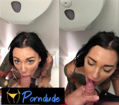 Video 2 Blowjob In The Public Toilet - Glamino Girls - Adel Asanty