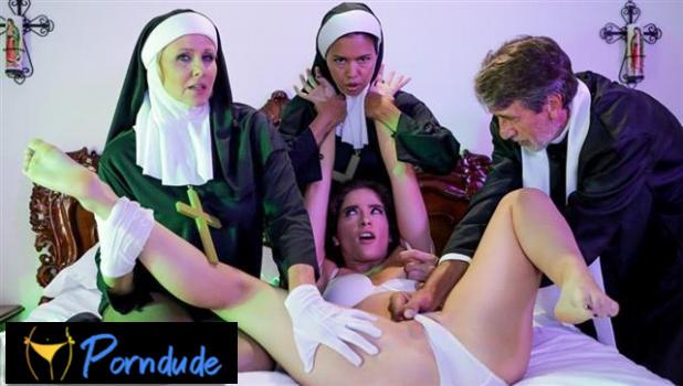 Ministry Of Evil Sc 3: Threesome Nun - Evil Angel - Dana Vespoli, Julia Ann And Victoria Voxxx