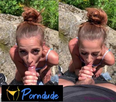 Video 2 Sucks Cock On The Way To A Festival - Glamino Girls - Eveline Dellai