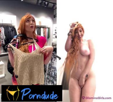 Video 1 Naked In A Mall - Glamino Girls - Lauren Phillips