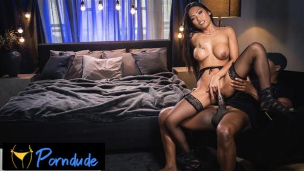 Ebony Dick Fills Pretty Asian Pussy - Erotic Spice - Polly Pons