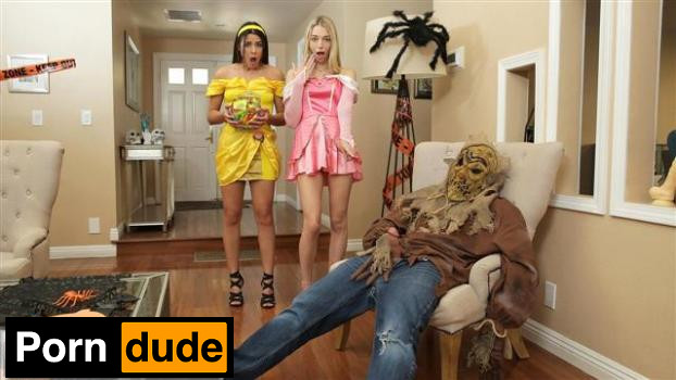 Step Brothers Trick And Treat – S15 E1 - Step Siblings Caught - Kylie Rocket And Lily Larimar