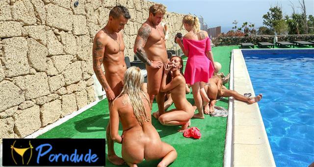 Wild Pool Orgy - Summer Sinners - Wild Pool Orgy
