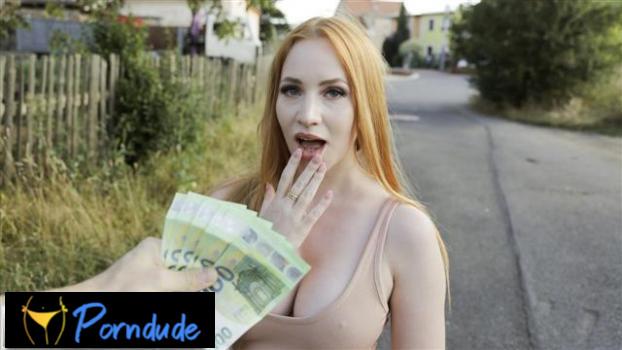 Big Tits Redhead In A Tight Dress - Public Agent - Kiara Lord