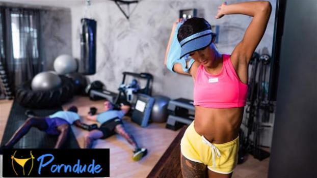 Wild Threesome Makes Teen Squirt - Fitness Rooms - Capri Lmonde